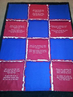 Custom Made Air Force Song Quilt