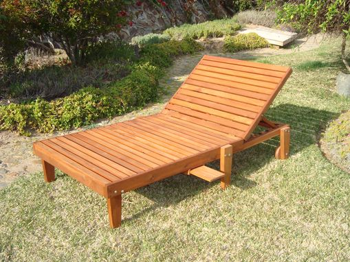 Custom Made Best Redwood Wide Summer Chaise Lounge