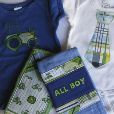 Custom Made Personalized Baby Boy Gift Set - Style 1