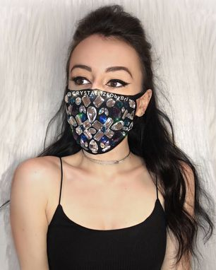 Custom Made Custom Crystallized Mask Any Colors Design Face Cover Covid Bling Swarovski Crystals
