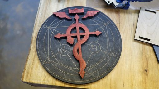 Custom Made Wooden Fullmetal Alchemist Flamel Symbol