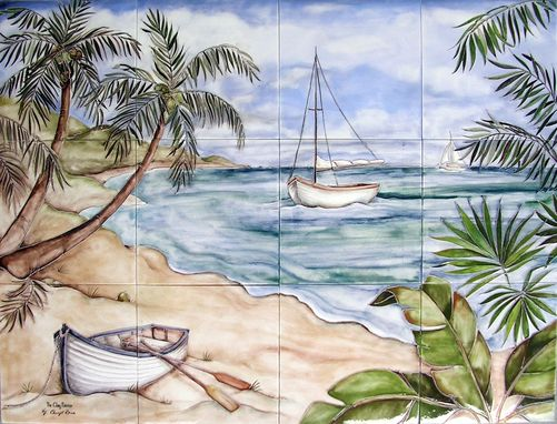 Custom Made Seascape With Palms