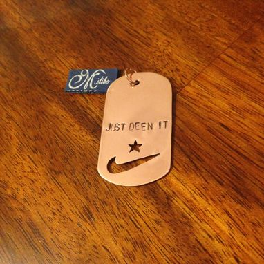 Custom Made Personalized Handmade Copper Dog Tag