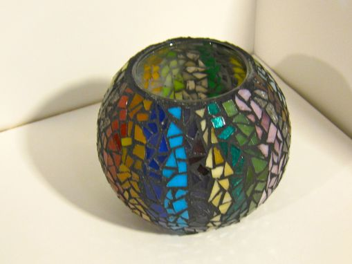 Custom Made Candle/Votive Holders- Glass Mosaics