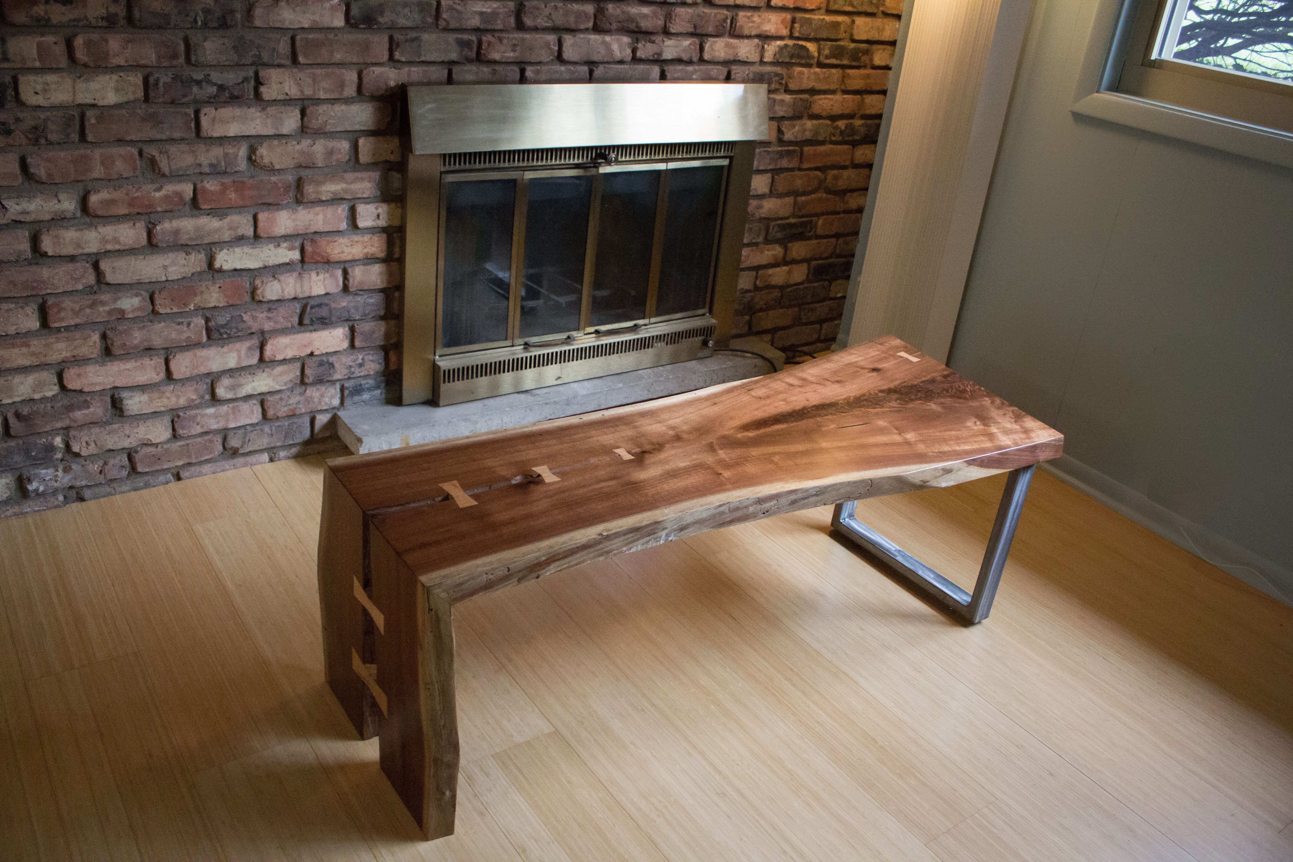 - Hand Crafted Walnut Slab Coffee Table 2 Of 2 By Powell Woodworks
