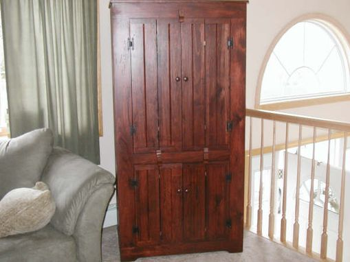 Custom Made Armoire Or Entertainment Center 76