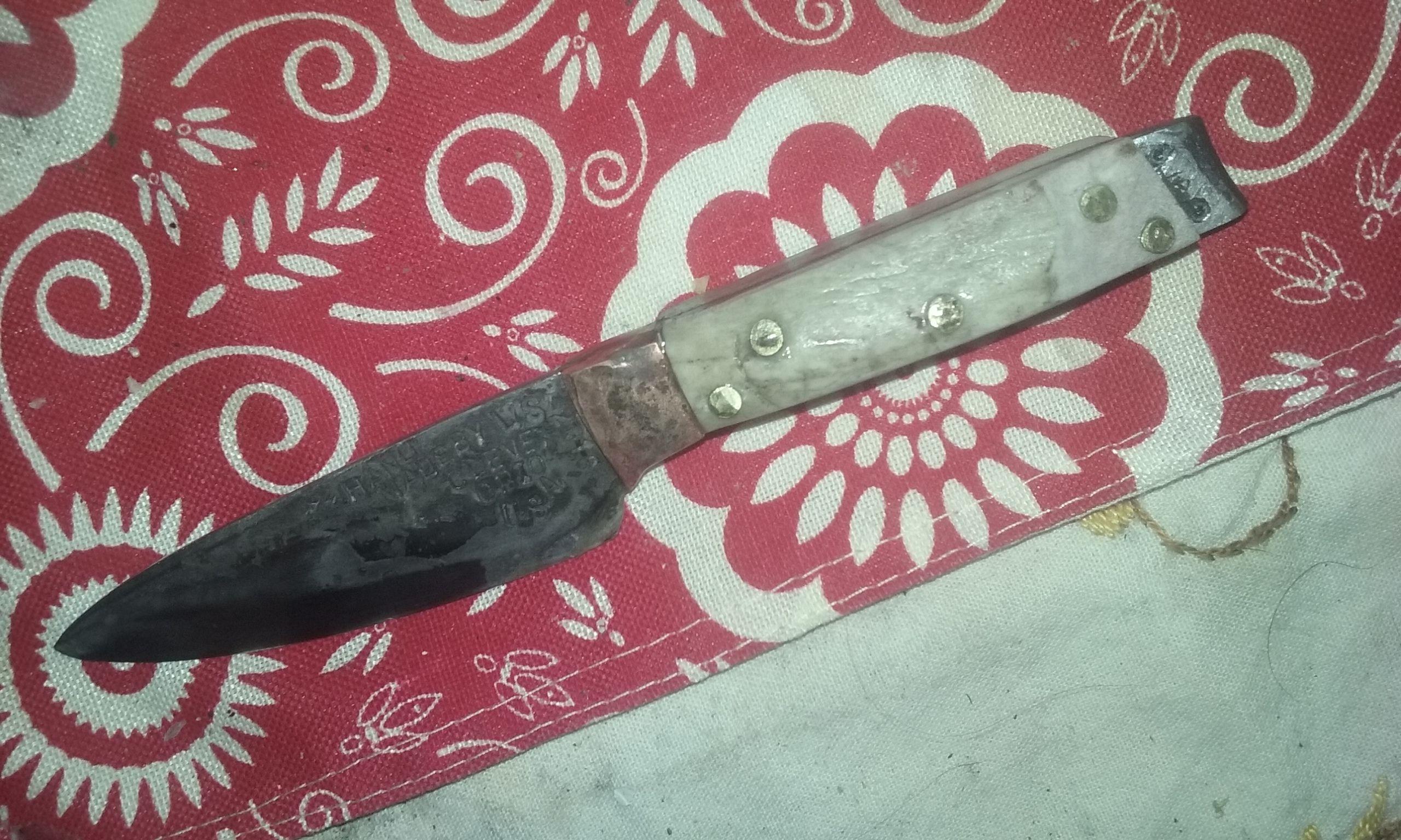 hand made high carbon blue paper steel kitchen knife by hand custom made high carbon blue paper steel kitchen knife