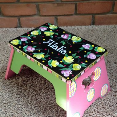 Custom Made Personalized Step Stool Custom Childs Stool Chair