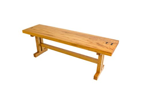 Custom Made Oak Bench