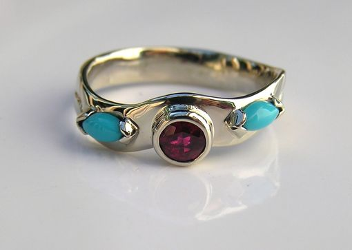 Custom Made Men's Ruby Wedding Ring Band In Custom White Gold