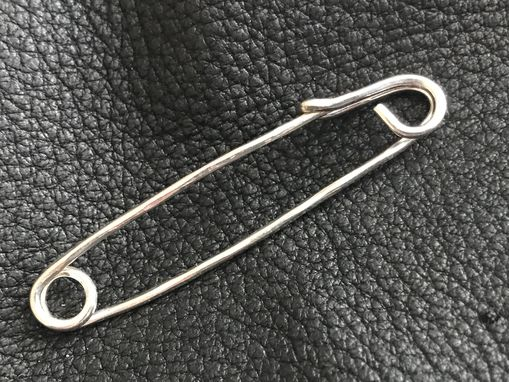 Custom Made Harry's Small Kilt Shawl Safety Pin Sterling Silver Hand Hammered