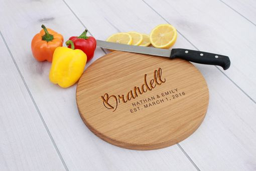 Custom Made Personalized Cutting Board, Engraved Cutting Board, Custom Wedding Gift – Cbr-Wo-Brandell