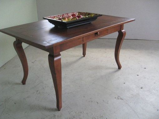 Custom Made Custom Rustic Pine Table With Cabriole Leg