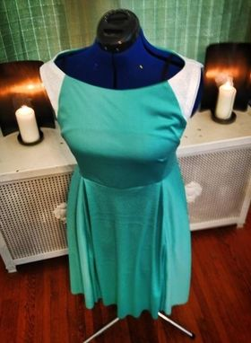 Custom Made Turquoise Stretch Dress (With Pockets)