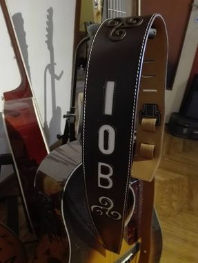 Custom Made Bespoke Leather Guitar Strap