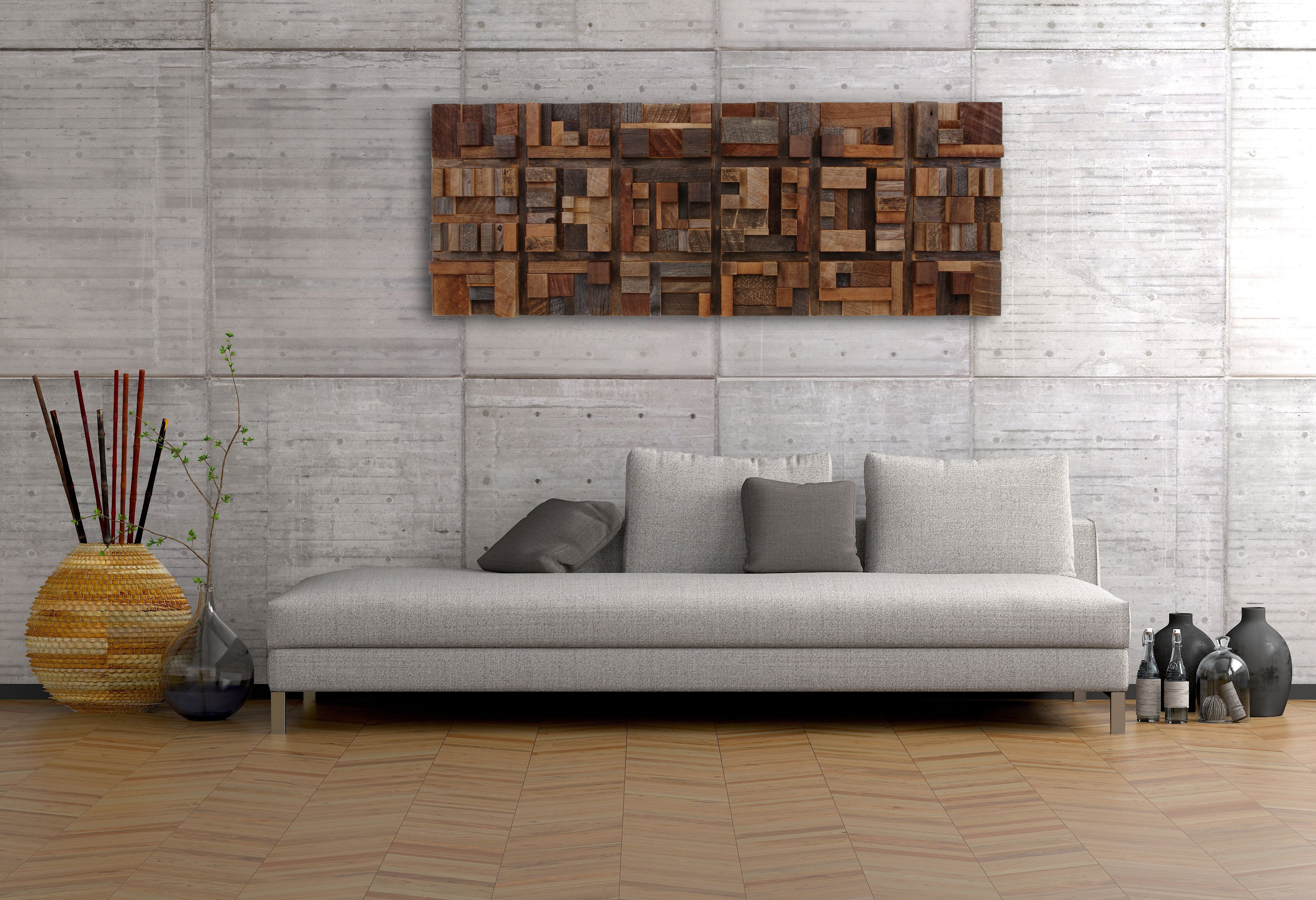 Are Accent Walls Out Of Style 2017 Handmade Wood Wall Art Of Geometric Shapes Reclaimed