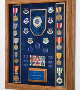 Custom Made Air Force Awards Display Case