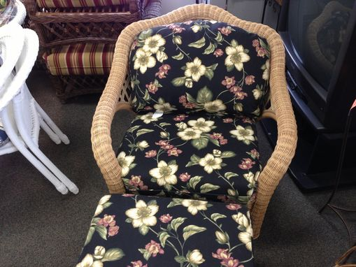 Custom Made Upholstered Chair And Ottoman