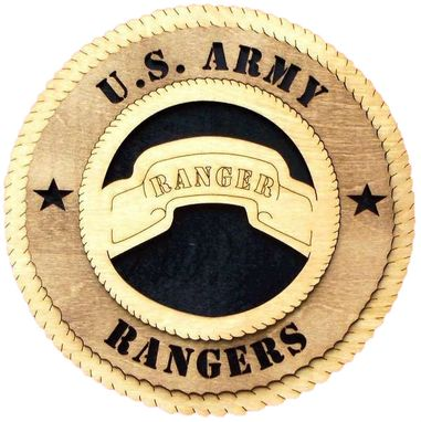 Custom Made U.S Army Rangers Wall Tribute, U.S Army Rangers Hand Made Gift