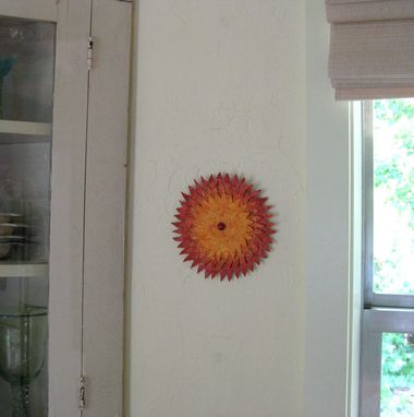 Custom Made Handmade Upcycled Metal Sunburst Wall Art Sculpture