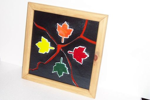 Custom Made Stained Glass Maple Leaf Collage