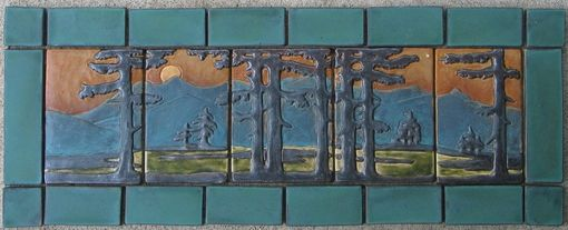Custom Made Fir Landscape Set With Border