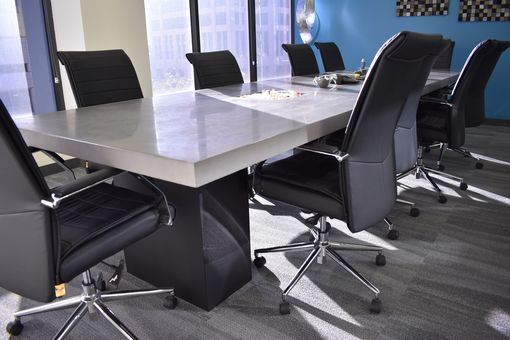 Custom Made Concrete Conference Table (Epoxy)