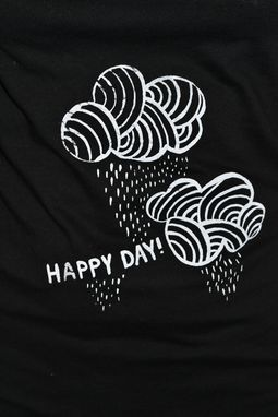 Custom Made Black V Tshirt - Short Sleeve- Happy Day Tshirt