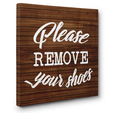 Custom Made Please Remove Your Shoes Entrance Canvas Wall Art