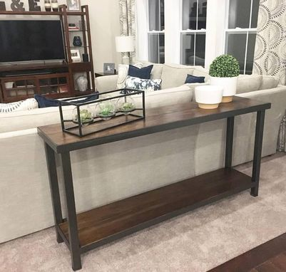 Custom Made Rustic Modern Sofa Table