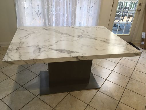 Custom Made Looks Like Real Marble Dining Table
