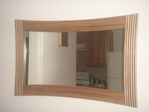 Custom Made Zebrano Mirror