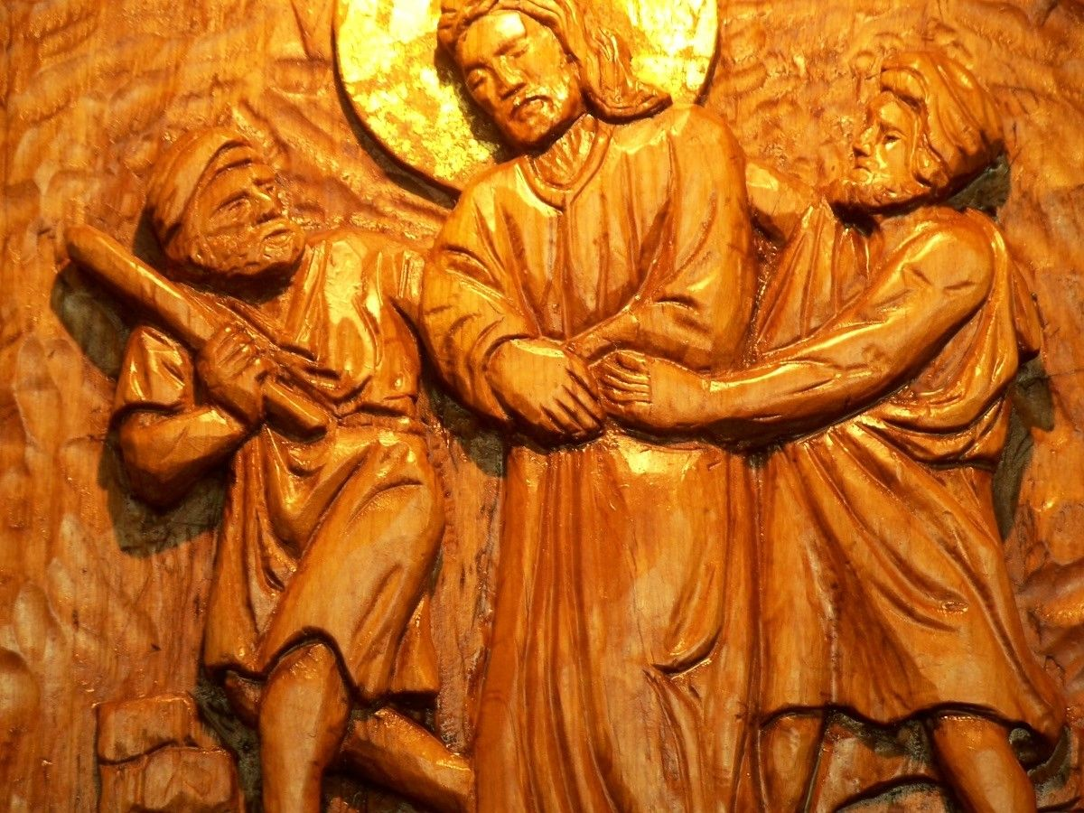 Handmade stations of the cross hand carved wood blocks by jose