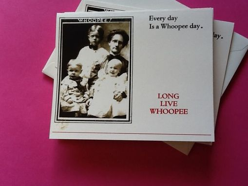 Custom Made Long Live Whoopee Notecard Set