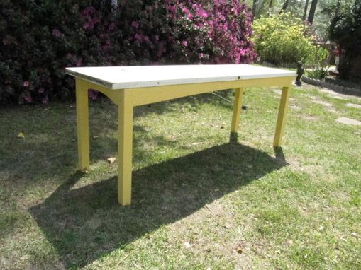 Custom Made Kitchen Table, Sofa Table, Hall Table, Reclaimed Door Table