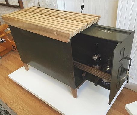 Custom Made Vintage Filing Cabinet Hide-Away Bar