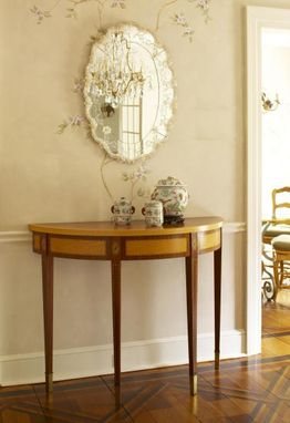Custom Made Demilune Entry Table In Scarsdale, Ny
