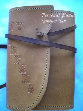 Custom Made Custom Leather Journal With
