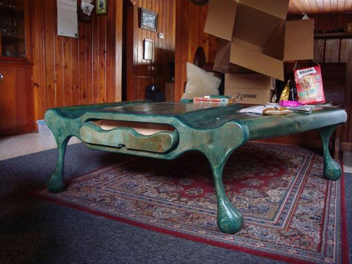 Custom Made Green Coffee Table