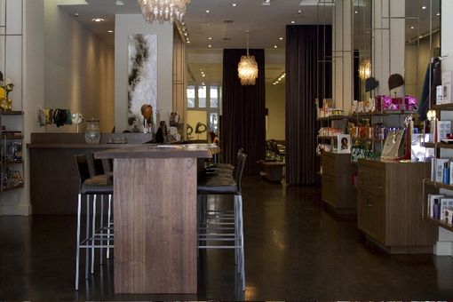 Custom Made Coffee Bar At Eva Scrivo Salon, Nyc