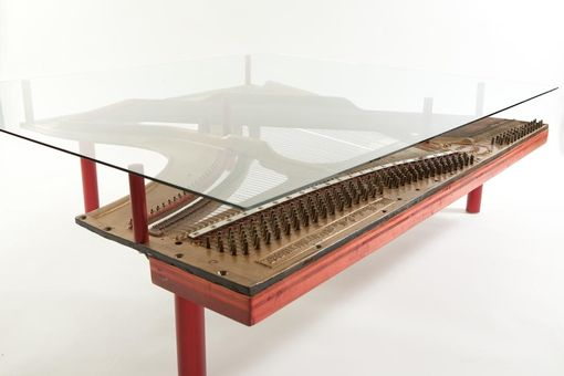 Custom Made Reclaimed Piano Coffee Table