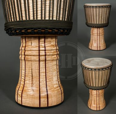 Custom Made Curly Maple Djembe - African Styled Hand Drum