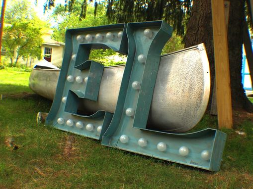 Custom Made Marquee Letter Smile Large Huge Vintage Bulb Channel 3ft X 2.5 - 3ft