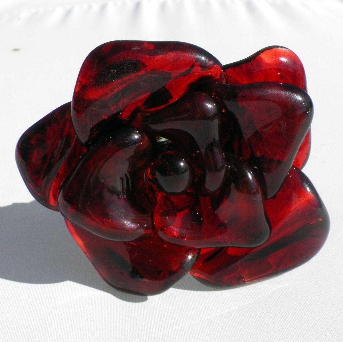 hand crafted extra large long stemmed red glass rose forever untamed rose 39 39 by untamed rose. Black Bedroom Furniture Sets. Home Design Ideas