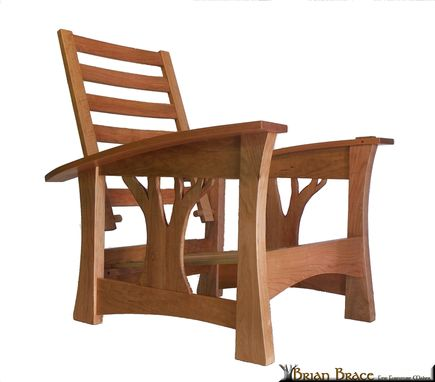 Custom Made Arbor Bow Arm Morris Chair (In Cherry)