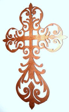 Custom Made Decorative Cross Christian Wall Art By Covington Iron Works