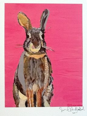 Custom Made Bunny On Pink Limited Edition Print