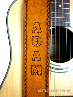Custom Made Custom Tan Leather Guitar Strap