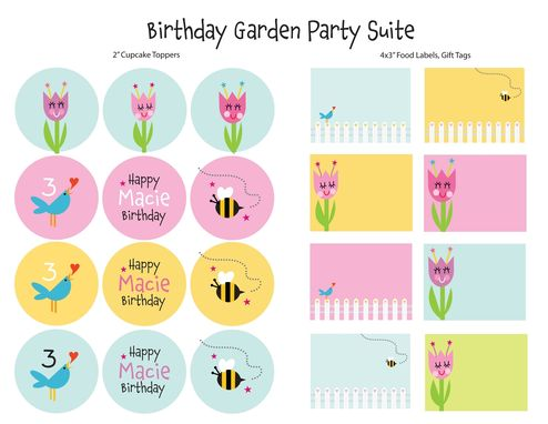 Custom Made Garden Birthday Party Invitation With Flowers