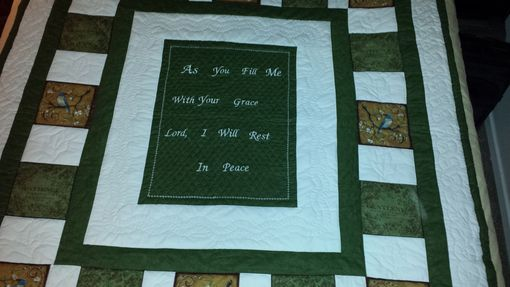 Custom Made Birds Of Hope Inspirational Quilt